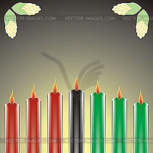 Sieben Kwanzaa-Kerzen - Vektorgrafik-Design