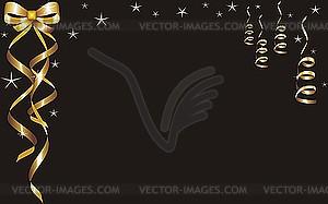 Grußkarte mit goldenen Bändern - vektorisiertes Design