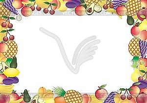 Früchtrahmen - Vektor-Clipart / Vektor-Bild
