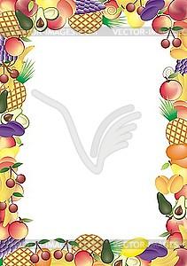 Früchtrahmen - Vektorgrafik-Design