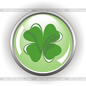 Quadrifolium-Taste für St Patrick Tag - Vector-Illustration