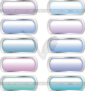 Set von glänzenden Web-Buttons - Vector-Clipart