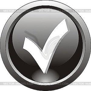 Schwarzes Icon - Haken - Stock-Clipart