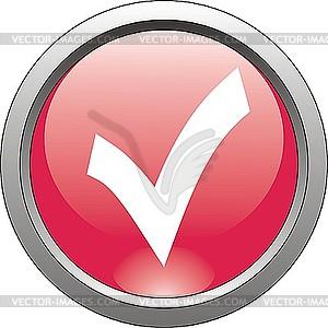 Rotes Icon - Haken - Vector-Clipart / Vektor-Bild