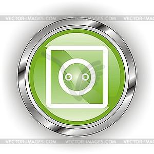 Glänzendes Icon für Steckdose - Vektor-Clipart