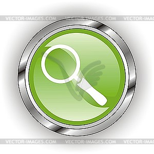 Glänzendes Icon für Lupe - Vector-Clipart / Vektorgrafik