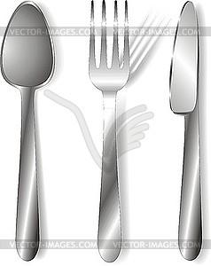 Löffel, Gabel und Messer - Vektor-Clipart / Vektor-Bild