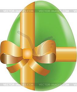 Farbiges Osterei mit Schleife - vektorisiertes Bild