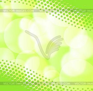 Grüner Frühjahrs-Hintergrund mit verschwommenem Licht - Klipart