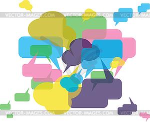 Forum oder Chat: Hintergrund in Sprechblasen-Konzept - Stock-Clipart