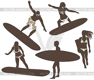 Surfer - Vektor-Abbildung