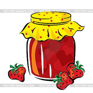 Marmelade im Glas - Vektorgrafik-Design
