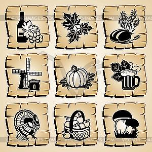 Herbst-Icons - Vektorabbildung