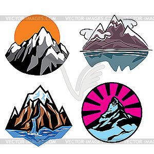 Gebirge - Vektor-Clipart EPS