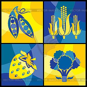 Gemüse - Vektor-Klipart