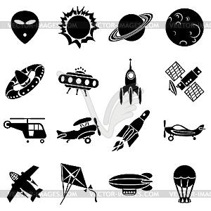 Luft und Weltraum - Vektor-Clipart EPS