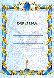 Militärdiplom - Vector-Clipart EPS