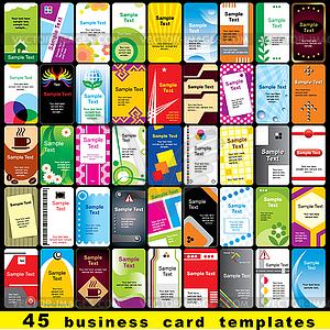 45 vertikale Visitenkarten - Vector-Clipart / Vektorgrafik
