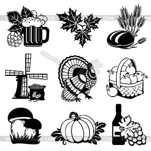 Herbst Symbole - Clipart-Bild