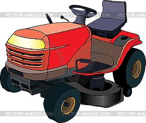 Rasenmäher-Traktor - Vector-Bild