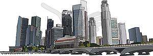 Singapur Stadtbild - Clipart-Bild