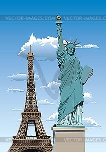Statue of Liberty in Paris - Vektor-Clipart / Vektor-Bild