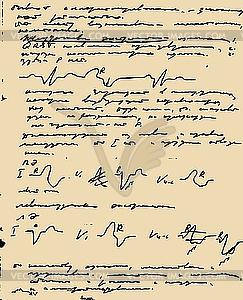 Seite von handschriftlichem Text - Vektor-Clipart / Vektor-Bild