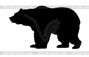 Силуэт медведя - векторный рисунок