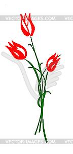 Tulpe - Vector Clip Art