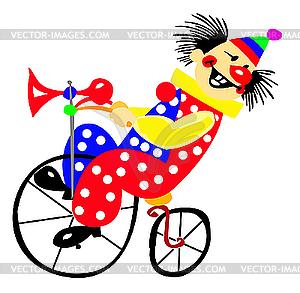 Porträt des Clowns - vektorisiertes Clipart