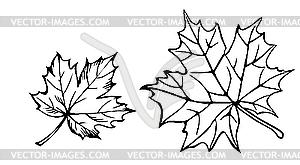 Silhouetten der Ahornblätter - Vektor-Klipart