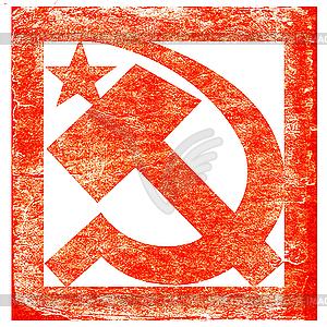 Sowjetisches Symbol im Gungestil - Vektor-Clipart EPS