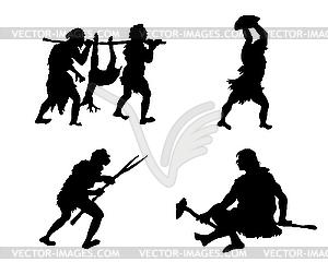 Primitive Menschen - Vektor-Clipart / Vektorgrafik