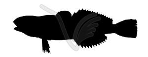 Silhouette der Fische - Vector Clip Art