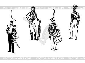 Offiziere der alten Armee - Vektor-Abbildung