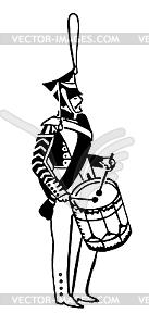 Illustration Offiziere der alten Armee - vektorisiertes Clipart