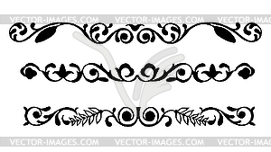 Set von Ornamenten - Vector-Illustration