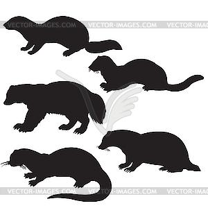 Silhouetten Tier - Vektor-Klipart