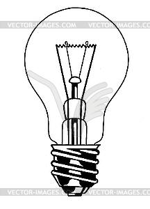 Glühbirne - Vector-Abbildung