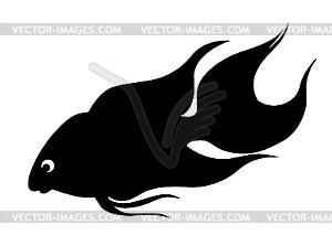 Silhouette der Zierfische - Stock Vektorgrafik