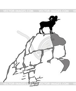 Berg ram Silhouette, - Stock Vektorgrafik