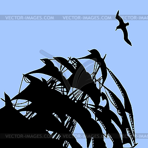 Segel unter dem blauen Himmel - vektorisierte Grafik