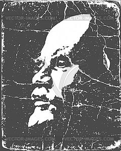 Grunge-Porträt von Lenin - Clipart-Bild