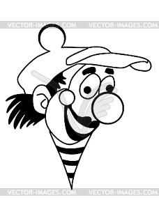 Silhouette Clown - Vector-Clipart