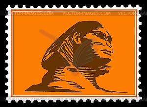 Silhouette der Sphinx auf Briefmarken - Klipart