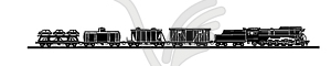 Silhouette des alten Zuges - Vector-Clipart