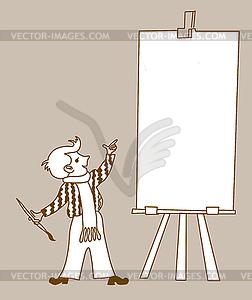 Kleine Künstler - Vector-Clipart / Vektor-Bild