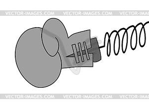 Boxhandschuh, - Vektor-Clipart EPS