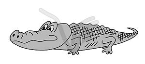 Grau Krokodil, - Vector-Clipart / Vektor-Bild