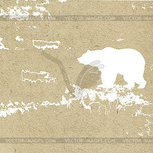 Grunge-Hintergrund mit Bären - Vektorgrafik-Design